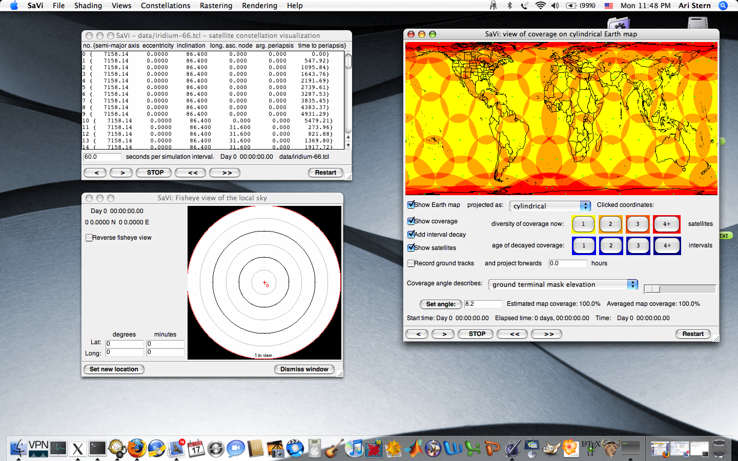 SaVi running on Mac OS X 10.4 (Tiger)