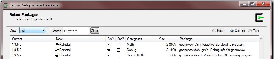 SaVi - running SaVi and Geomview under Microsoft Windows