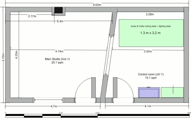 Small Home Recording Studio Floor Plan